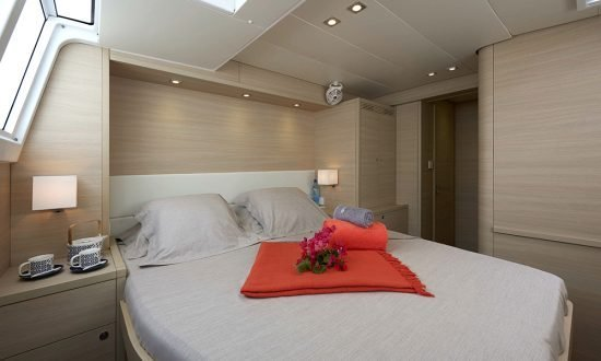 a cabin on a charter boat
